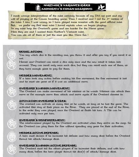 Screenshot for NURTHOR'S VARIANTS RULES