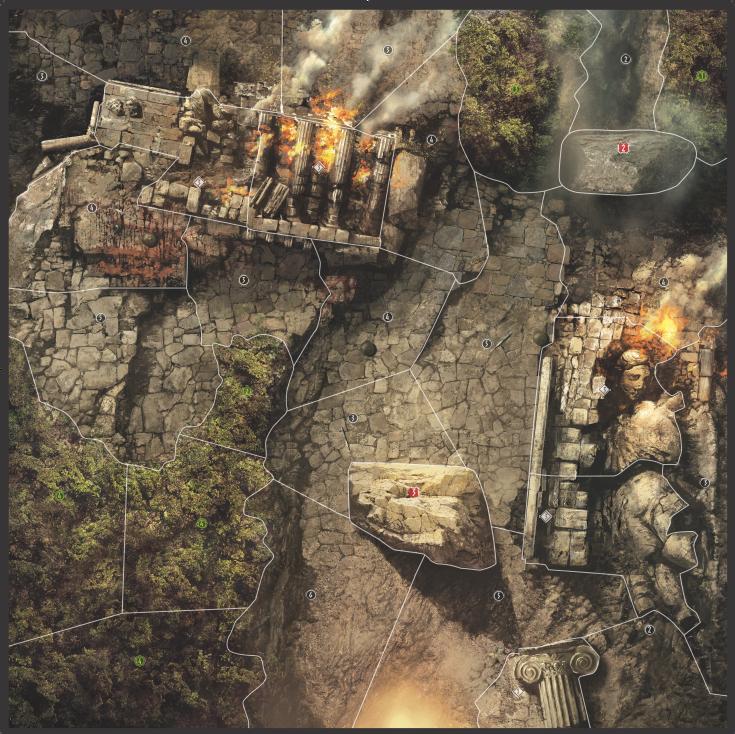 Olympus in ruins Map
