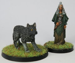 Zelata and her wolf